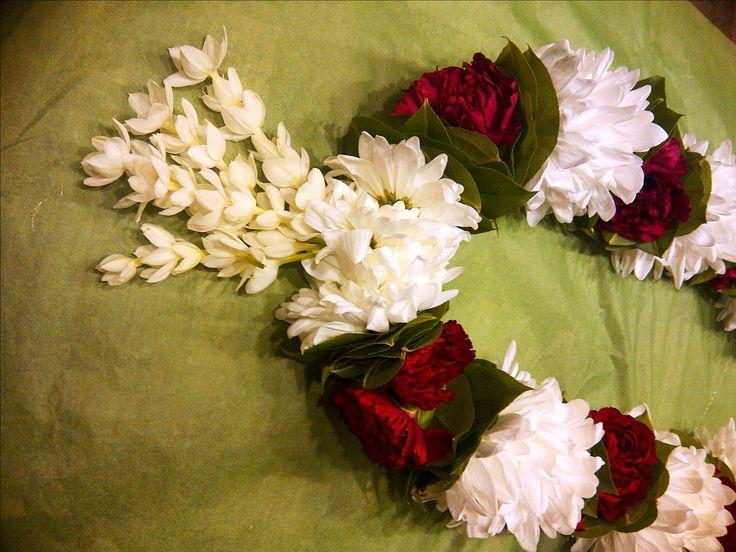 cambodian or khmer male wedding veil or flower garland
