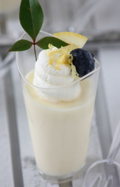 Lemon Posset is a British dessert with only 3 ingredients...heavy cream, sugar, and lemon juice.  This recipe is over 500 years old.