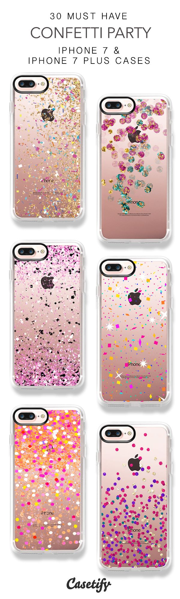 30 Must Have Confetti Party iPhone 7 Cases and iPhone 7 Plus Cases. More Sparkle iPhone case here > https://www.casetify.com/collections/top_100_designs#/?vc=elt9yFwejY