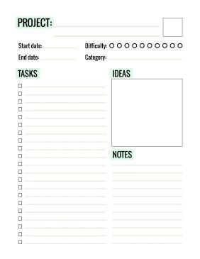 Free Printable Project Planner - Paper and Landscapes