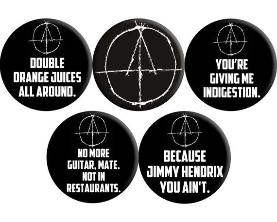 Kill List 2011 handmade quotes badges  set of FIVE