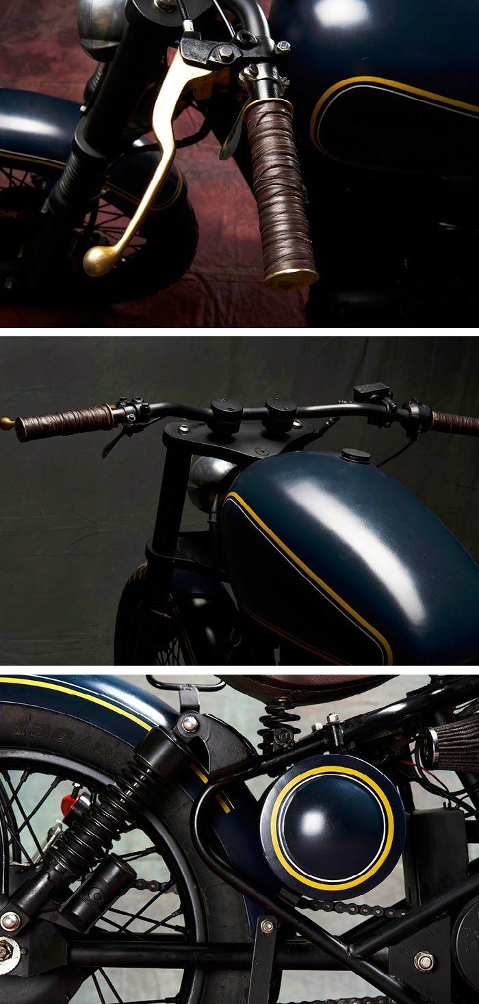 The Bullitt: Royal Enfield 350cc Bobber by Bull City Customs