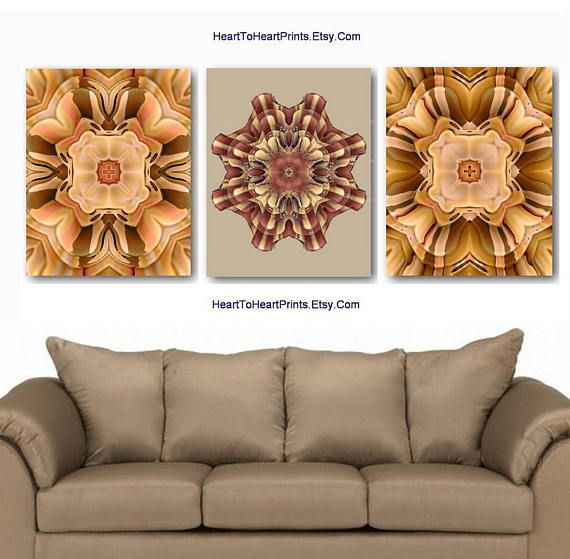 Beige Brown Rustic Wall Art Floral Rustic Wall Decor Beige Flower Farmhouse Decor Brown Country Home Decor Bedroom Living Room Set Of 3 Rustic Wall Art Rustic Wall Decor Wall Decor