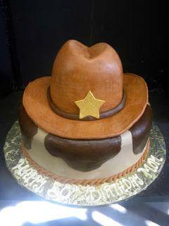 Hansen's Cakes Cowboy Theme. Cowboy hat cake