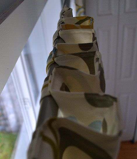 DIY tab top curtains! Use this free easy step by step tutorial to make your own tab top curtains!