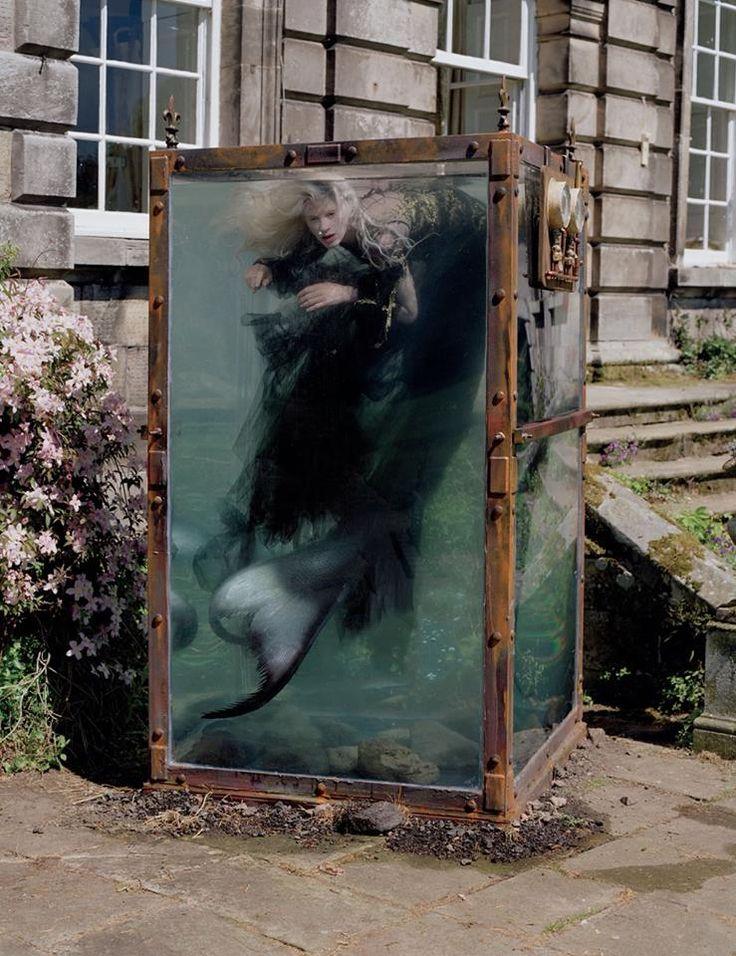 Steampunk Tendencies | Kristen McMenamy by Tim Walker for W Magazine December 2013 #Fashion #Mermaid