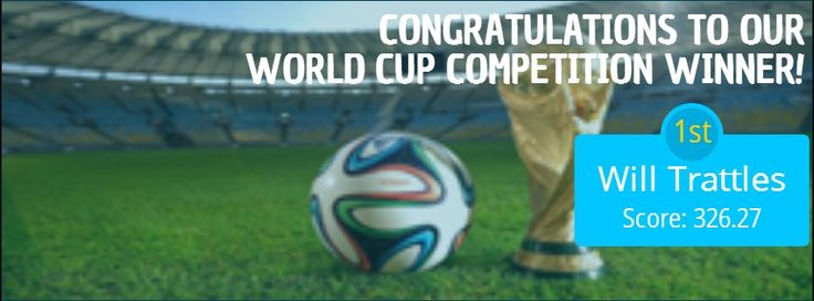 Congratulations to Will Trattles on winning Fleming Mayfair World Cup Competition! #WorldCupFinal #Football: World Cup