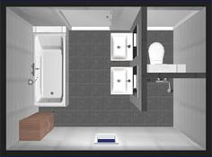 plattegrond kleine badkamer - Google zoeken