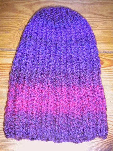 Damska czapka robiona na drutach - Edyta-86 - Czapki na drutach