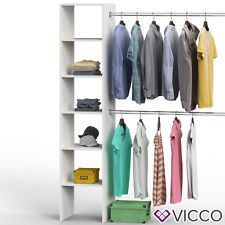 Ideal Kleiderschrank offen begehbar Regal Kleiderst nder Schrank wei Garderobe