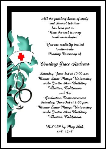 17 Best Images About Nurse Pinning Ceremony Invitations