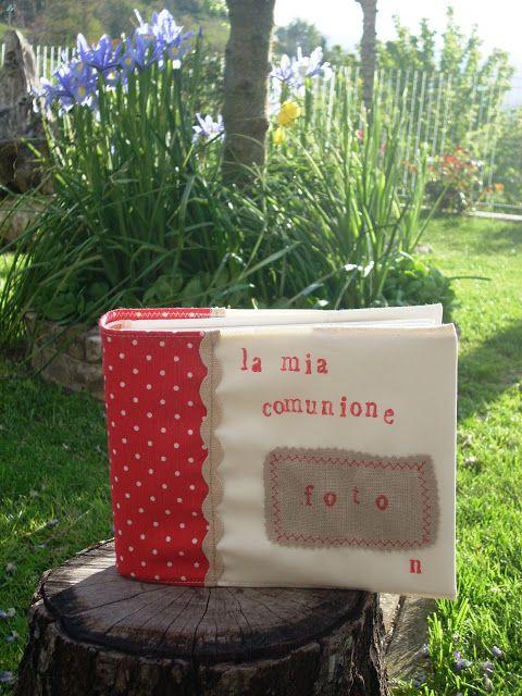 Album comunione http://silviaefamilydeco.blogspot.it/