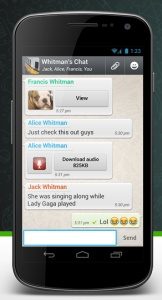 http://www.whatsapp-spionage.de   Interested in spying on whatsapp? Interested what you girl friend is chatting all day long and to whom. Easy to find out with this Spy App.