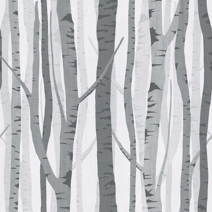 Wilko Trees Wallpaper Black/Grey WP332118