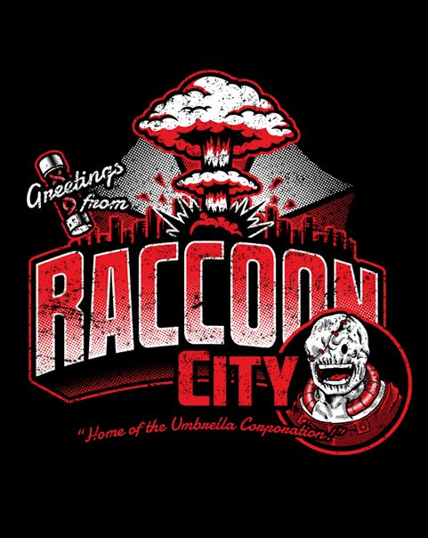 Greetings From Raccoon City T-Shirt ~ $10 Resident Evil tee at ShirtPunch today only!
