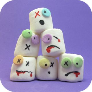 Cute Food For Kids: 41 Cutest Halloween Food Ideas - Zombie Marshmallow