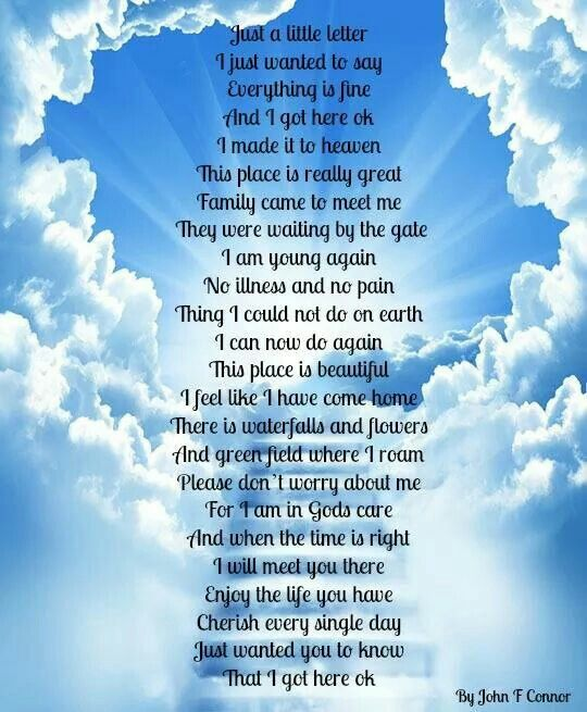 17 Best Images About Heaven Poems On Pinterest