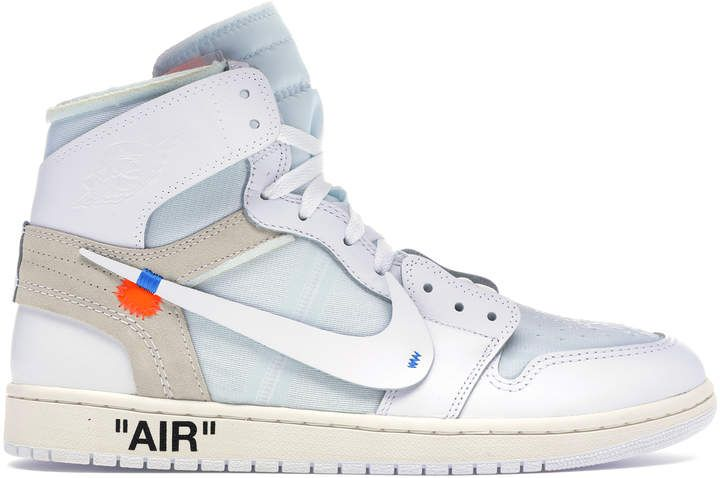 Jordan 1 Retro High Off White White Ad Womens Sneakers