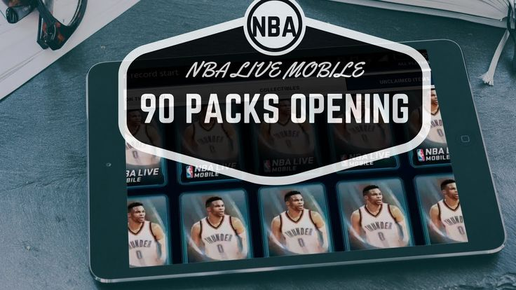90 PACKS OPENING!! 750K COINS!! NBA LIVE MOBILE !!!