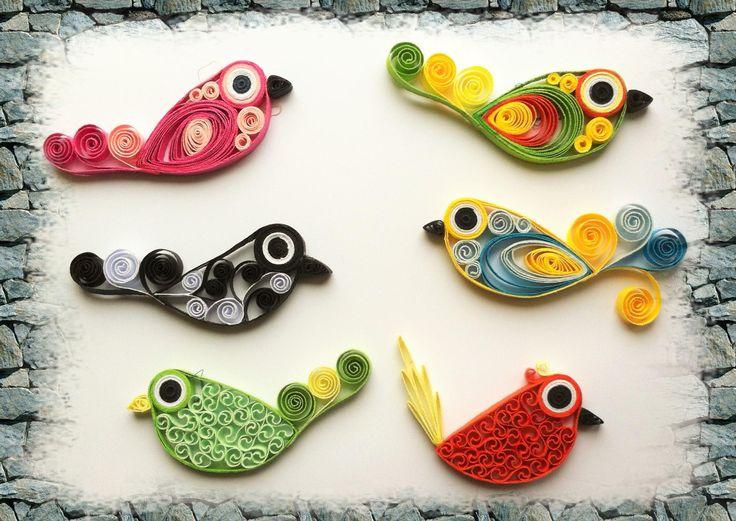 Kit tutoriel de loisir creatif - initiation au quilling - oiseaux tuto quilling réalisé par Les Loisirs Créatifs d'Eugénie. http://www.creatifs-loisirs.com/boutique/quilling/kits-quilling/kit-quilling-oiseaux-1.html