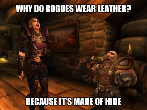 Nothing like a good Bad Joke Friday to ring in the weekend! 😏 World of Warcraft, September 2017