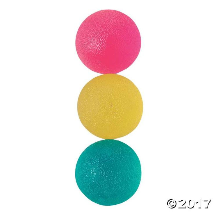 Squeeze your stress away with these lightweight balls with three levels of resistance: firm, soft and squishy. • Great for tactile stimulation and ...