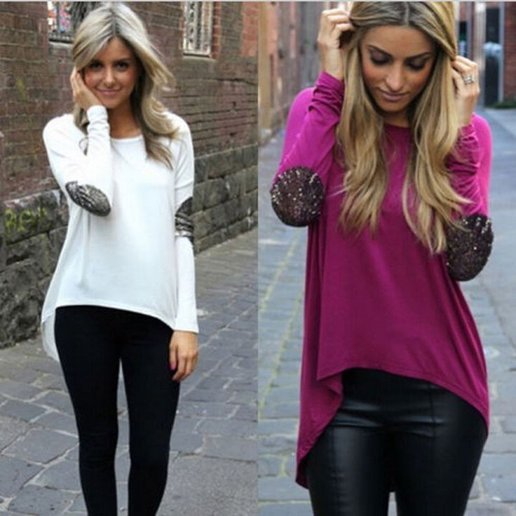This is nice, check it out!   Womans Long Sleeve Black Top Fashion Glitter Patchwork Chiffon Blouse Irregular Loose Hem Casual Shirts Rose White Blusas - US $8.50 http://goclothingshop.com/products/womans-long-sleeve-black-top-fashion-glitter-patchwork-chiffon-blouse-irregular-loose-hem-casual-shirts-rose-white-blusas/