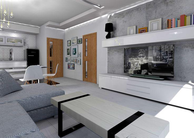 Salon w stylu skandynawskim.