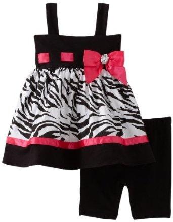 Amazon.com: Sweet Heart Rose Baby-girls Infant Zebra Bike Short Set: Clothing