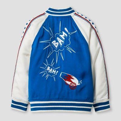 Toddler Boys' Americana Embroidered Bomber Jacket Genuine Kids from OshKosh - Blue 2T