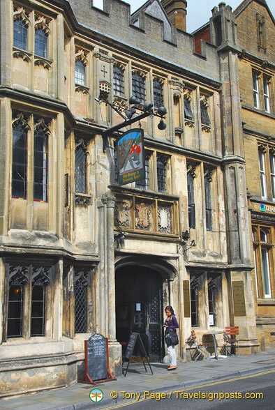 The George and Pilgrims Hotel in Glastonbury dates back to the 1400s