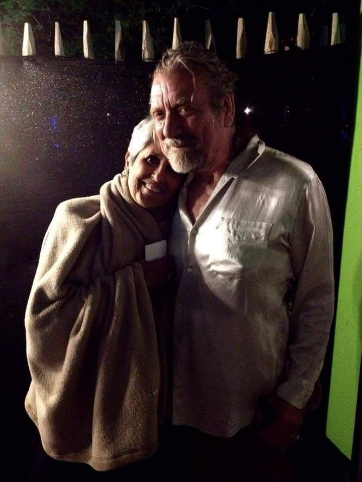 Percy with Joan Beaz