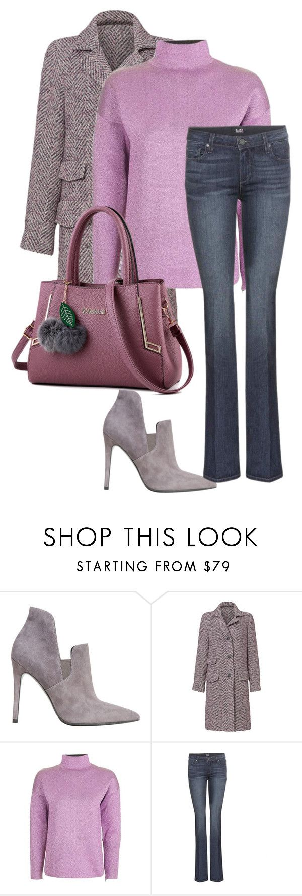 """""""Untitled 18"""" by havlova-blanka on Polyvore featuring Kendall + Kylie, Rebecca Taylor, Topshop and Paige Denim"""