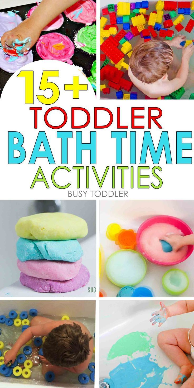 15  Toddler Bath Time Activities: so many awesome bath tub activities for toddlers and preschoolers; make baths fun again by making them into an easy activity