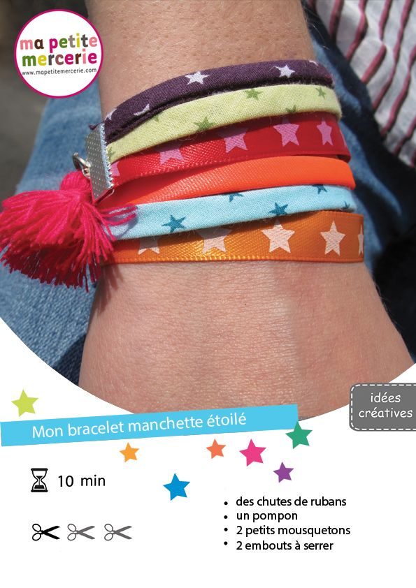 DIY bracelet -- in French, but use google translate, and the idea and most instructions are clear.