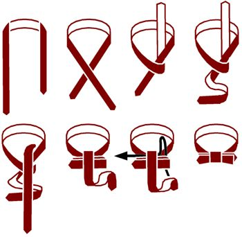 How to tie a bowtie, because bowties are cool! Just in case I ever need to know...