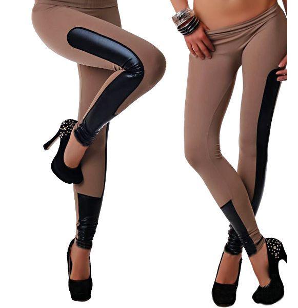 Legice Mckenzie v modni kombinaciji tkanine in umetnega usnja, Zelo elastične in udobne za nošenje.