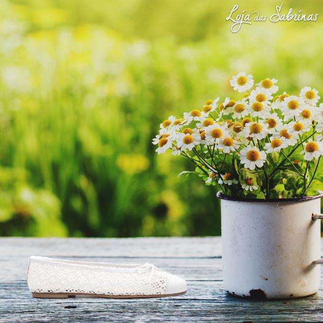 A primavera já está no ar e as nossas sabrinas Margarida são uma inspiração.
