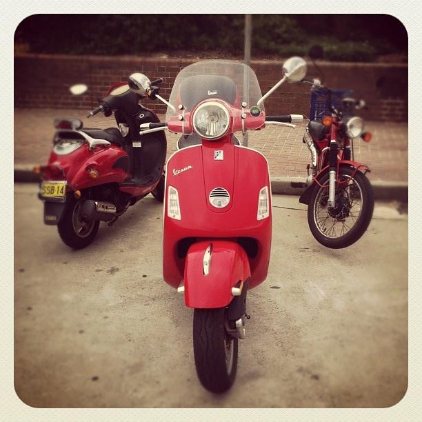 Red Retro Rides #bondi #beach #sydney australia #vespa