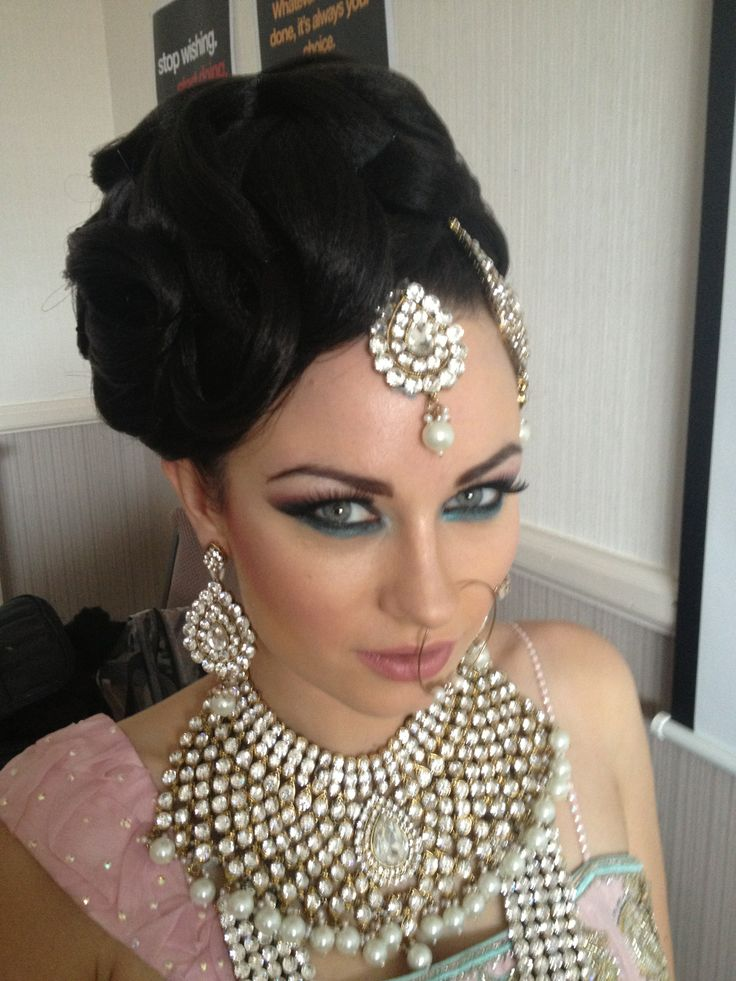 Wedding Hair and makeup by Arpita Karania Training courses available Call 07957211218