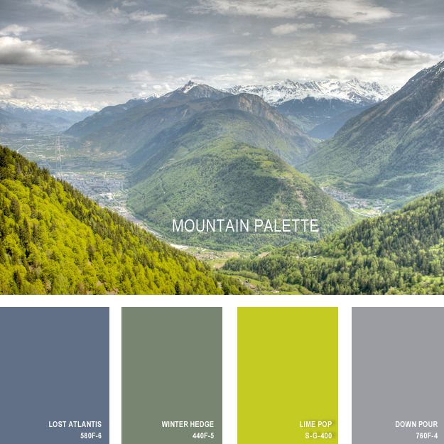 Lost Atlantis & Down Pour = lovely.  11 Beautiful Color Palettes Inspired By Nature