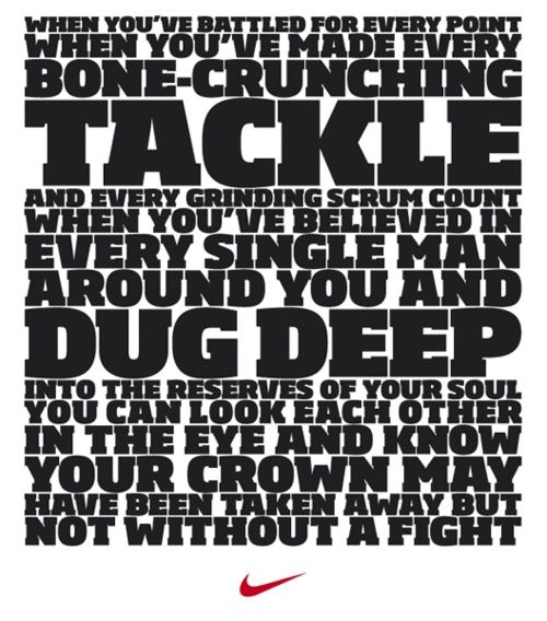 Too true for Rugby, even though I am sure this is for football.