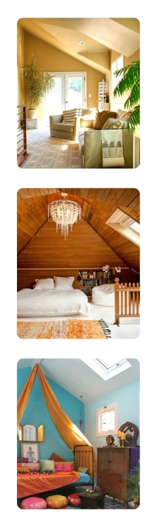 Fun options for attic spaces #hometips #remodeling - Remodeleze.com: Remodeleze Com 1St, Attic Spaces, 1St Pics, Dreams House, Attic Rooms, Hometip, Fun Options, Attic Addition, Creative Lights