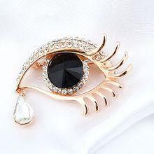 2015 мода винтаж полный горный хрусталь длинные ресницы большие глаза ювелирные изделия Cytsal брошь пен(China (Mainland))