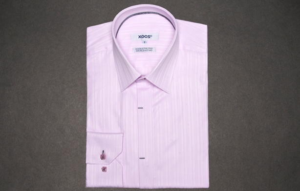 Pink Shirt with Pink Stripes (Double Twisted),  Dress Shirts for Men at French-Shirts.com