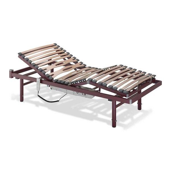 Somier Eléctrico Viana. La cama articulada eléctrica modelo Viana tiene un lecho de 4 planos y 3 articulaciones con lamas de haya vaporizada y estructura bastidor exterior en tubo de acero.