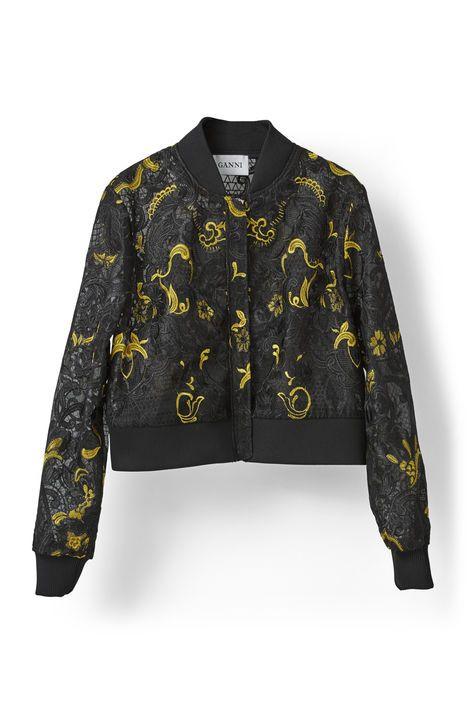 Evans Lace Jacket, Black Fusion Ganni
