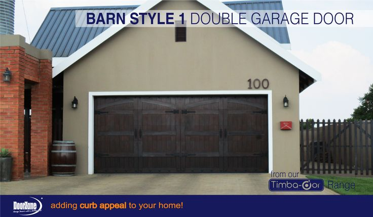 Timba-dor™ Barn Style 1 double sectional overhead garage door manufactured by DoorZone®. www.doorzonesa.com