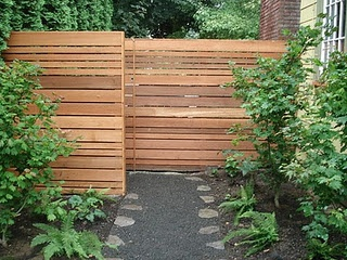 Scrap wood fence.