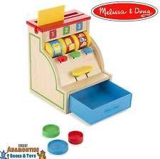 Melissa Doug Tipo & Leitura De Madeira Caixa Registradora Brinquedo até aprendizagem precoce Pré-escola